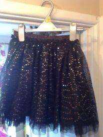 TU by Sainsbury girl's black sequin skirt