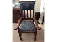 ARTS AND CRAFTS OAK CHILDS CHAIR CIRCA 1910...