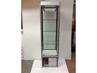 Ex Hire Glass Display Showcase 1.8m x 0.4m x 0.5m with cupboard