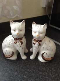 Pair of Staffordshire cats, perfect for any cat lover £20 the pair