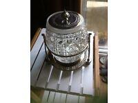 Victorian Replica 1950's Cut Glass Biscuit Barrel