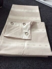 Nearly new fully lined eyelet curtains