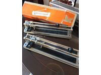 Two tile cutters