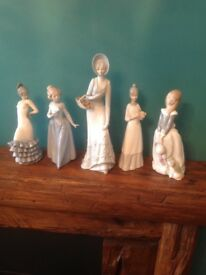Group of porcelain figurines