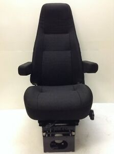 NEW Bostrom T915 Air Ride Seat, High Profile Base, High Back, Black Cloth