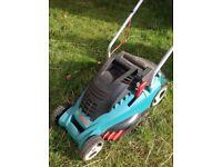 BOSCH ROTAK 36 ERGOFLEX LAWNMOWER & GRASS BOX GOOD WORKING ORDER BARGIN £65