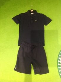Boys Lacoste shorts and t-shirt