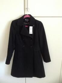 Miss Selfridge - smart coat, size 8. Brand new !