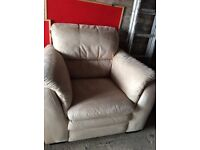 Cream suite .. 2 seater sofa and chair .. Superb condition