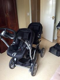 Mammas and pappas twin pram