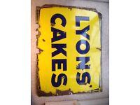 Lyons Cakes Enamelled Metal sign