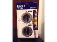 Kitchen Dual Double Timer NEW