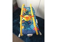 VIBRATING MUSICAL BABY BOUNCER TINY LOVE