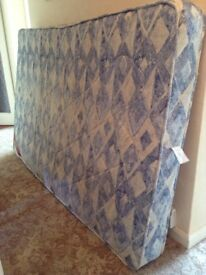 Mattress for sale. As New. In Blue and White mix pattern