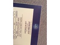 2 or 4 seats John Mayer @ the O2 Thurs May 11-can meet you @O2 to give tickets -BELOW FACE VALUE