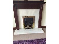 Baxi Gas Fire -coal effect and mahogany fire surround