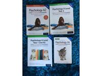 A Level AS Level psychology work books and revision aids flash card