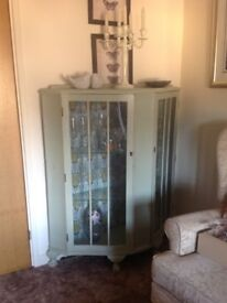Display Cabinet antique up cycled in chalk paint