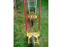 Vintage old garden implements display or use