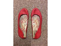 Well Worn Trashed Women's Ladies Shoes Heels Flats Pumps Tights