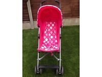 Very light pink stroller mothercare. Hardly used