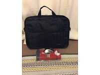 Laptop bag and wireless optical mouse