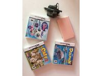 NINTENDO DS LITE AND X3 INCLUDED GAMES