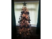 6ft white Christmas tree with bits