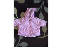 Baby girl pink coat up to one month