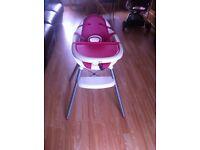 Mamas & papas high chair girls pink & white £20
