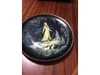 Beautiful antique Russian decorative plates (x10)