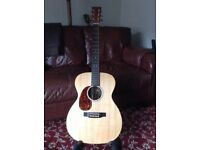 Left Handed Martin OOOX1ae electro/acoustic guitar