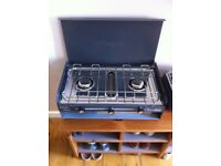 Camping Stove, Brand New! 2 Rings and Grill. Little Chef SunnCamp