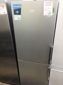 Beko silver fridge freezer. 3 draw freezer. 12 month Gtee
