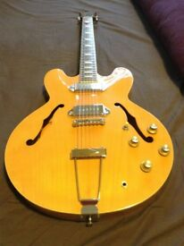 Epiphone Casino, blonde, Peerless factory SN ROOM045, VGC with case £545