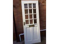 Solid hardwood front door.