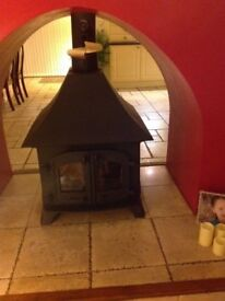 VILLAGER DOUBLE SIDED STOVE 12\14KW