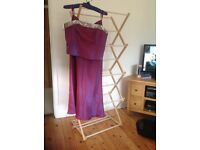 Pretty pinky/mauve colour bodice and long skirt