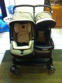 Great condition Mamas and Papas Aria+ Double pushchair with car seat