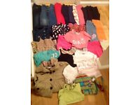 Large Bundle of Girls Clothes 4-5 Years (Approx 30 Items)