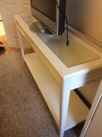 Liatorp Ikea Hall / console /TV stand. Cream colour