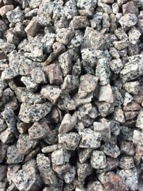 20 mm silver granite garden and driveway chips/gravel