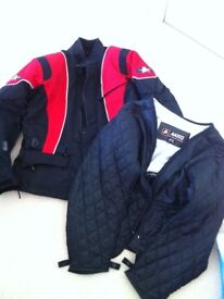 Mens Akito motorbike jacket and thermal liner. Excellent condition.