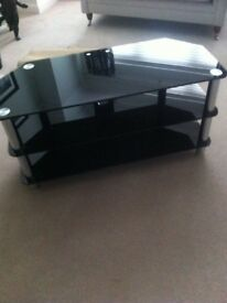 Modern Black/chrome Entertainment Unit
