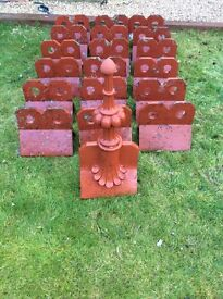 Reclaimed crested ridge tiles with finial