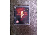 Resident evil ps3 game