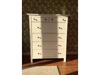 Ikea Hemnes chest of 6 drawers in white