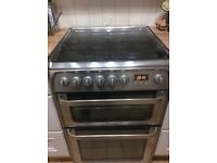 Chrome fee standing cooker by Hotpoint
