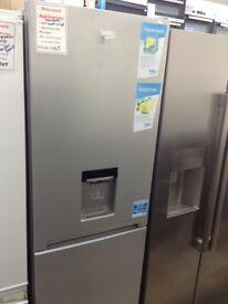 Beko silver fridge freezer with water dispenser. 12 month Gtee