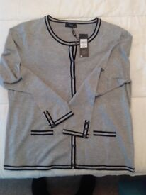 Grey cardigan M&Co 18 new with tag